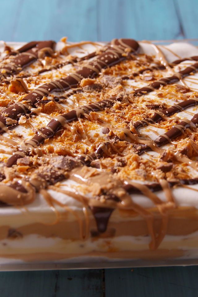 Peanut Butter Dessert Lasagna, s'mores bark and other yummy desserts.