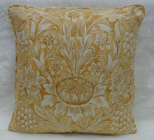 William Morris Fabric Cushion Cover Sunflower Etch Stunning Linen Union