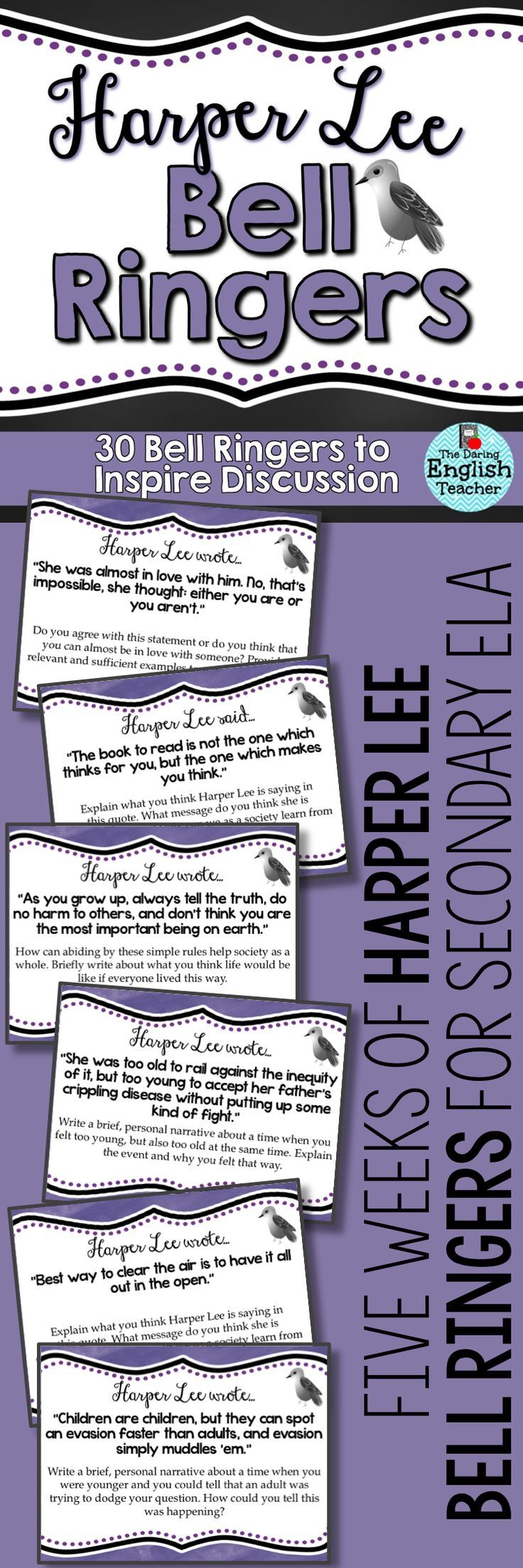 Kill mockingbird scrapbook ideas - Begin Each Day Of Your To Kill A Mockingbird Unit With These Harper Lee Inspired
