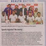 Launch of Sports Medicine Clinic at SSH Nagar Road in presence of FC Pune city Football Players