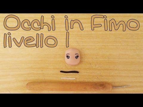 Tutorial Occhi bambole Fimo liv. 1 - Polymer Clay tutorial doll's eyes - YouTube