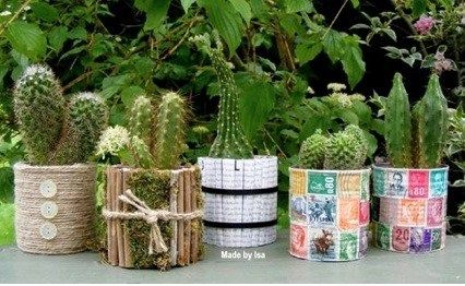 Recycler ses bo tes de conserve en pots de fleurs recyclage pinterest - Recycler boite de conserve ...