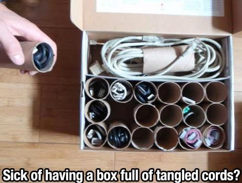 #Organiser #Recycler - Fini de s'emmêler les fils ! Encore plus rapide que de fabriquer des scratch !