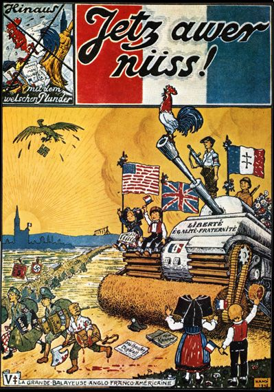 """World War Two French Propaganda Poster """" """"Fetch Our Noose"""""""