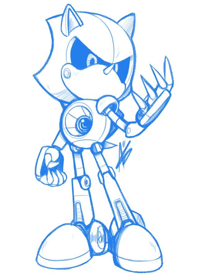 Metal Sonic By Hotbloodedmachine On Tumblr Hedgehog Art Sonic Sonic Fan Art