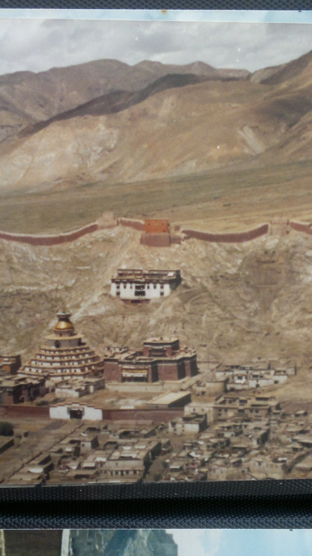 Gyantse Fort in  September of 1985