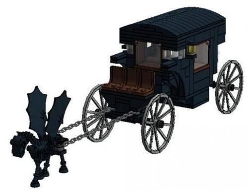 lego hogsmeade mocs   LEGO MOC-3838 Harry Potter Hogwarts-Hogsmeade Carriage (Harry Potter ...