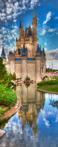 Disney Castle.... and I was thinking surrealistic, and it has come to be.