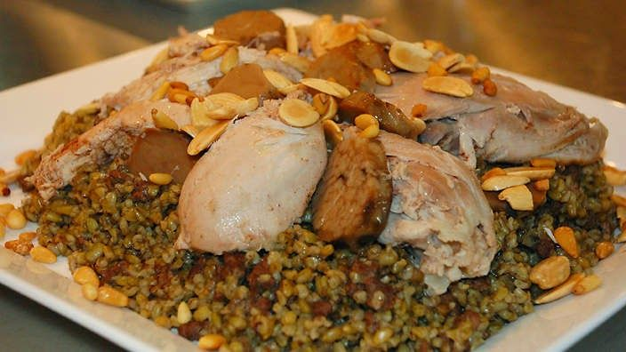 LEBANESE RECIPES: Freekeh with chicken recipe
