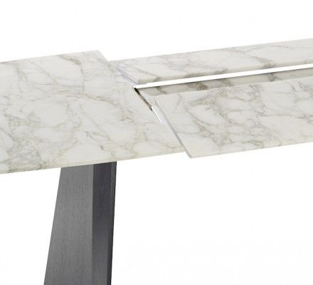 Draenert: Self Folding Extension Table Made Of Natural Stone