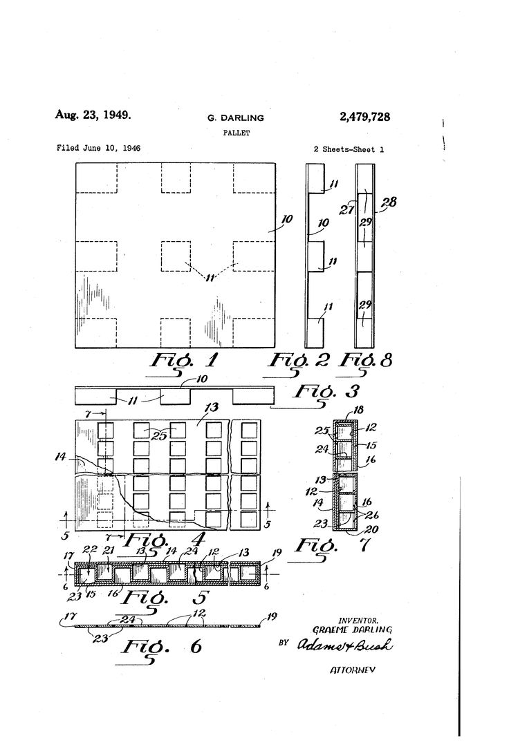 Patent US2479728 - Pallet - Google Patenter