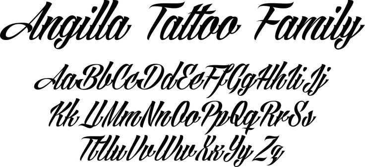Angilla Tattoo ia True Type font and is favorite among those who want a flavor…