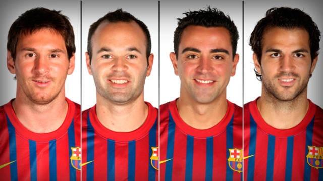 FC Barcelone : Xavi et Iniesta, Cesc et Messi nommé pour l'UEFA Europe Award