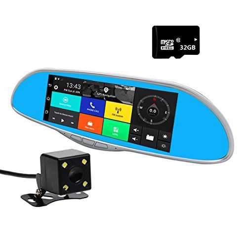 """KKMO 7"""" Dash Cam GPS Navigation, Car Smart Mirror Camera,1080P Full HD, WiFi, Bluetooth, Touch Screen, Rear view Mirror, Frond Back Camera Recording, Android 4.4. For product info go to:  https://www.caraccessoriesonlinemarket.com/kkmo-7-dash-cam-gps-navigation-car-smart-mirror-camera1080p-full-hd-wifi-bluetooth-touch-screen-rear-view-mirror-frond-back-camera-recording-android-4-4/"""