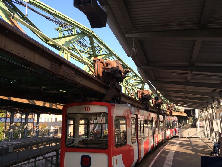 The Wuppertaler Schwebebahn opened in 1901 in Wuppertal Germany and
