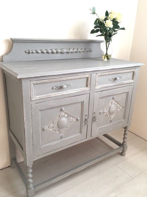 Paris Grey Sideboard from Beautiful Pig. This would make a gorgeous washstand. Add a surface mounted bowl and a gorgeous mirror above!