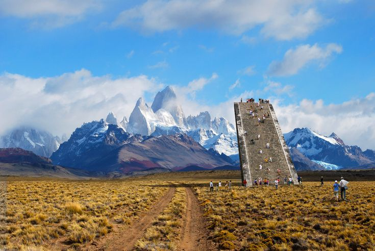 Largest Pool In Chile >> El Chalten viewing stairs in Patagonia. Image credits ...