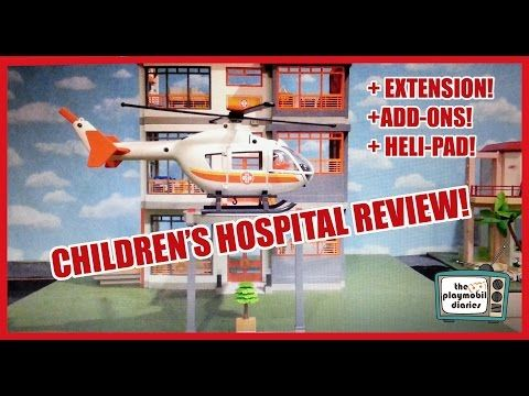 Playmobil Children's Hospital Review! Add-ons, Extension and Helicopter! The Playmobil Diaries - YouTube