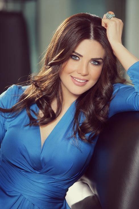 Мона Абу Хамзе ливанская телеведущая на Druze Lebanese TV
