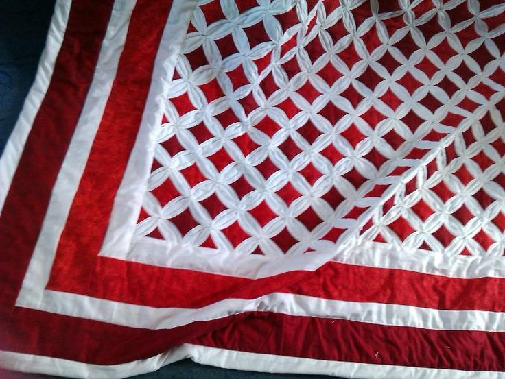cathedral window quilt pattern | Quilting Ideas | Project on Craftsy: Red Cathedral window ...