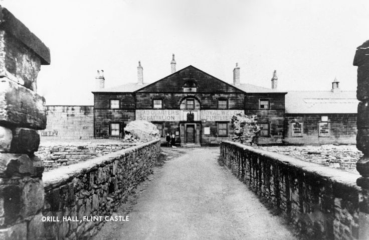 The HQ of 5th Battalion, The Royal Welch Fusiliers at Flint Castle. With thanks to Peter Metcalfe