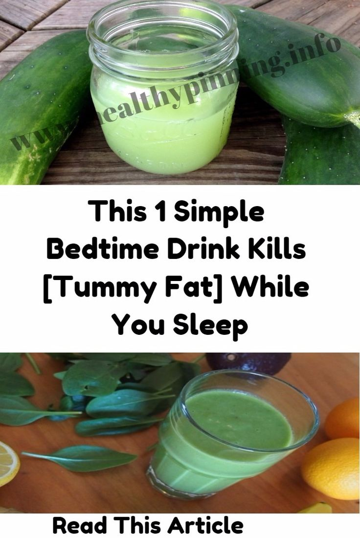 This 1 Simple Bedtime Drink Kills (Tummy Fat) While You Sleep