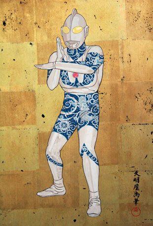 mymabuisampler:    850-Art_Hisashi-Tenmyouya-Tattoo-Man «Punjapit    日本文化 「刺青」 のイメージキャラクターにぴったす!
