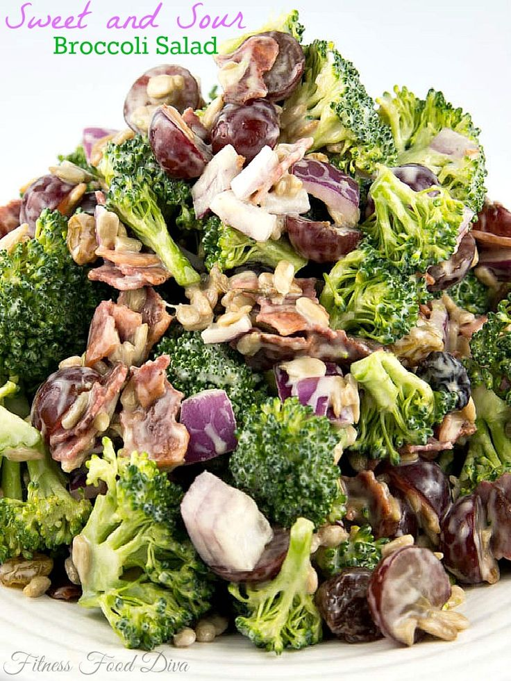 Sweet and Sour Broccoli Salad on MyRecipeMagic.com