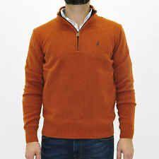 MCS Marlboro Classics Maglione uomo con zip arancione jumper man 4760