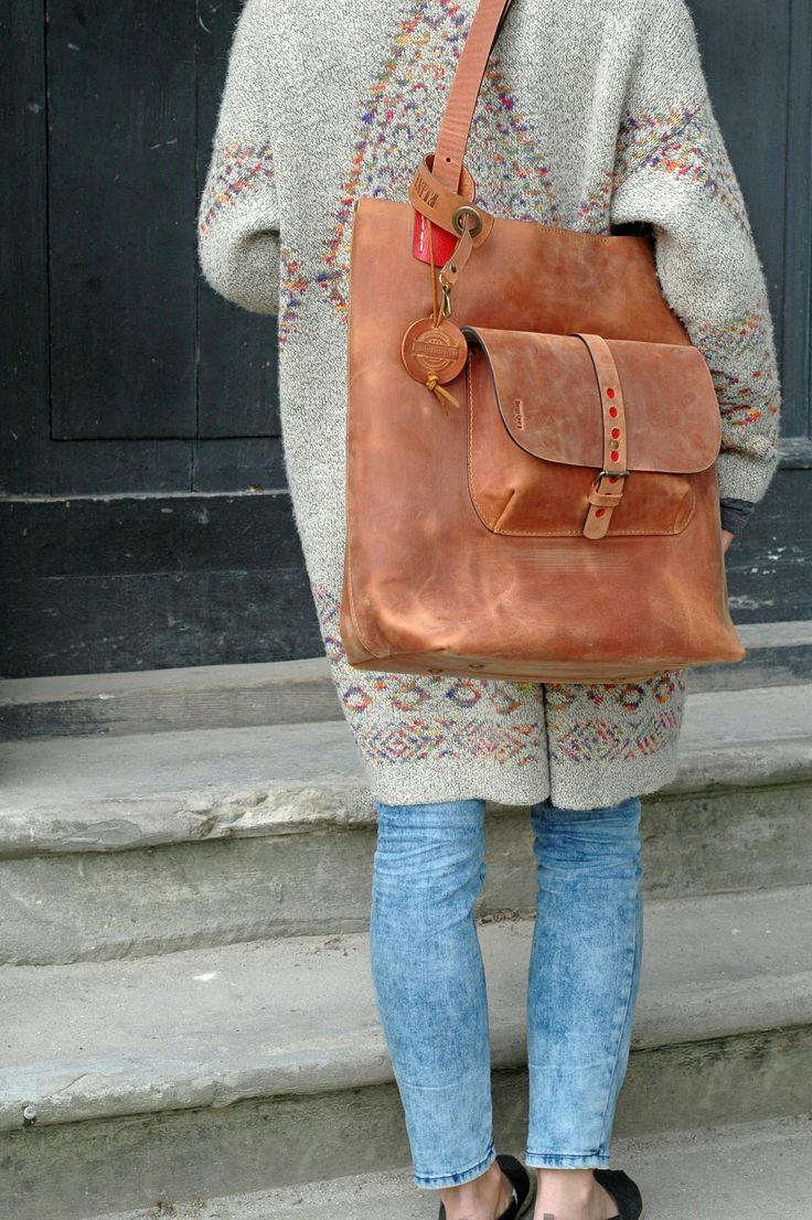 Leather Tote Bag GINGER handmade leather bag vintage hobo http://feedproxy.google.com/fashiongobags1