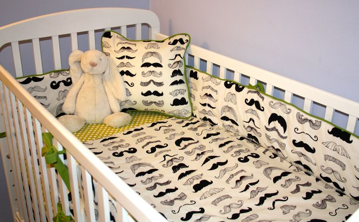 Cute in gray and white as a throw blanket for jaxs crib!!! Mustache nursery. Etsy.com
