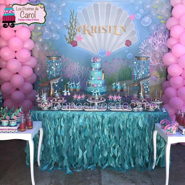 Kristen Mermaid Party | CatchMyParty.com