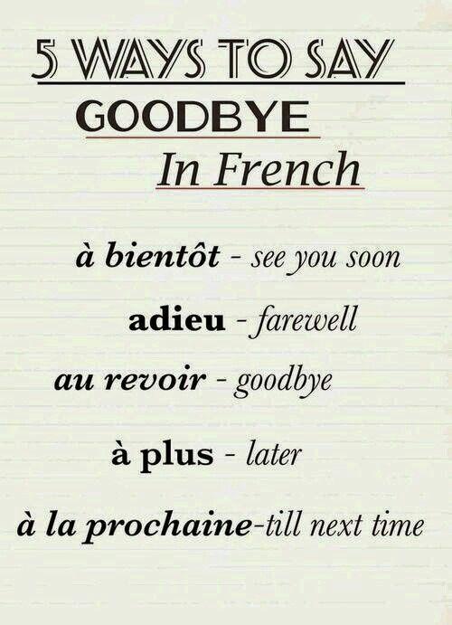 Despedirse en francés. Francés principiantes. DELF A1.