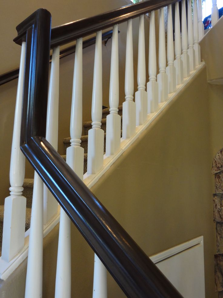 Updated painted stair case – a beautiful way to accent your home!