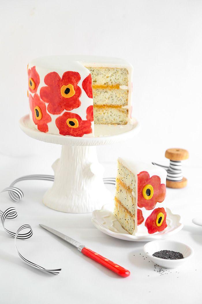 Orange Poppy Seed Marimekko Cake | Sprinkle Bakes - eek!
