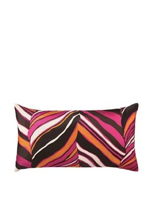 80% OFF Trina Turk Tiger Leaf Embroidered Pillow (Pink)