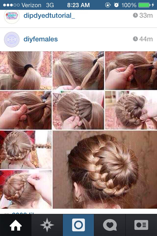 French braid sock bun!