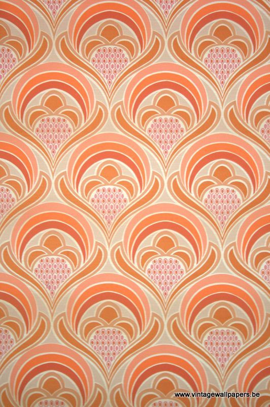 original retro wallpaper vinyl wallcovering from the sixties seventies - Wall Covering Designs