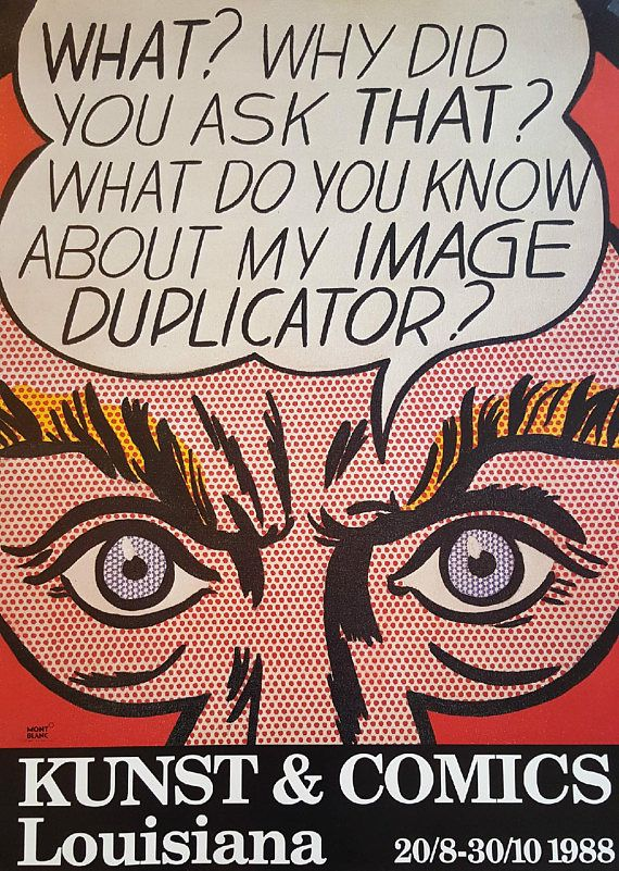 1988 Roy Lichtenstein Image Duplicator Louisiana Exhibition