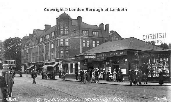 Streatham Hill Railway Station Date : 1919 The station was opened in December 1856 by the London, Brighton and South Coast Railway (LBSCR). Originally the station was named Streatham Station and when a new station opened in 1868 near Gleneagle Road, was re-named Streatham and Brixton Hill, which was ammended the following year to Streatham Hill. The barn like structure of the station has seen few alterations since it was built.