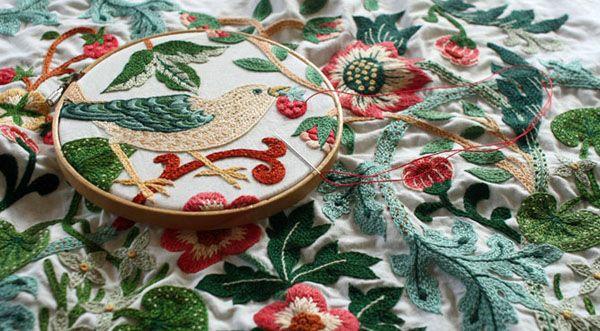 Yumiko Higuchi Pinterest | yumiko higuchi – william morris bird embroidery