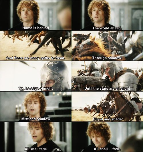 LOTR: Return of the King. Beautiful song! Billy Boyd actually wrote the song in 1 day, and performed it himself...he's got some incredible pipes! I love this song!