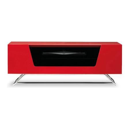 Alphason Chromium TV Stand, Red | ACHICA