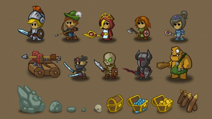 Heroes and Villains - Fantasy 2D pack - Asset Store