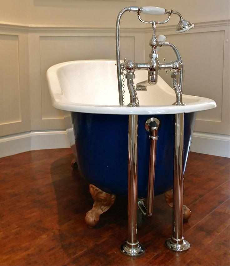 This beautiful Victorian bathroom in Wimbledon was Spruced using Farrow  Ball Dimity No. 2008 Estate Eggshell