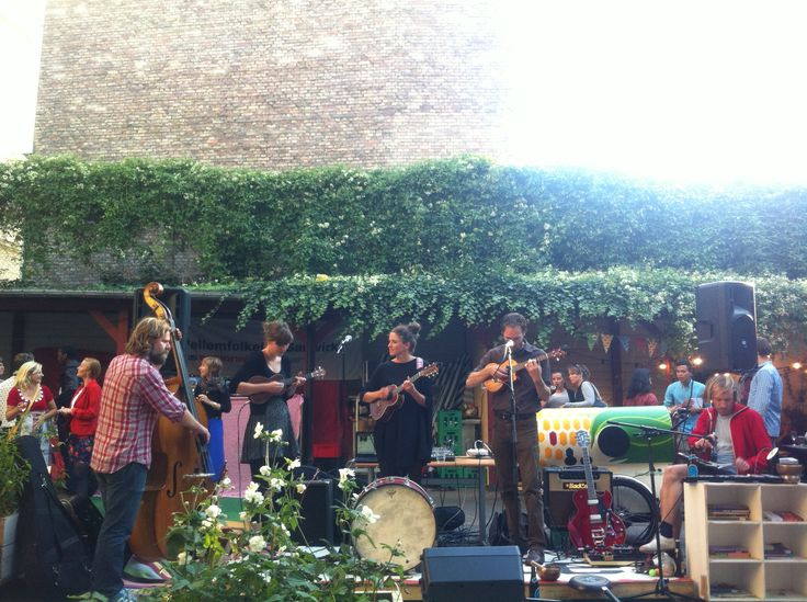 The garden in action with live music