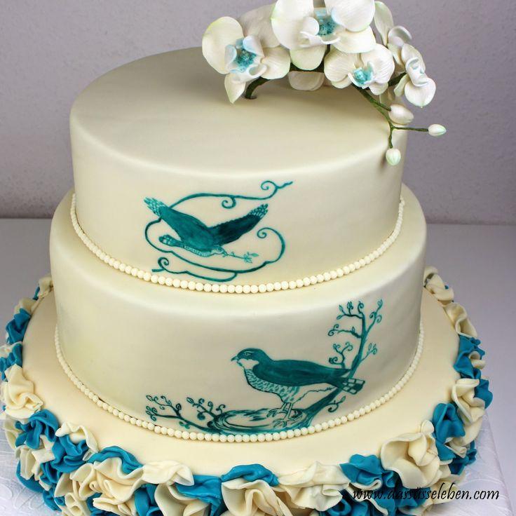 Best 25 Turquoise Cake Ideas On Pinterest Rainbow