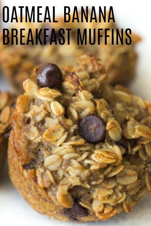 Banana Oatmeal Breakfast Muffins Recipe Oatmeal Breakfast Muffins Healthy Breakfast Muffins Food