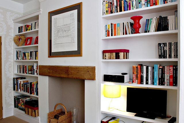 Fitted Bookcases by Claire Sutton, via Flickr