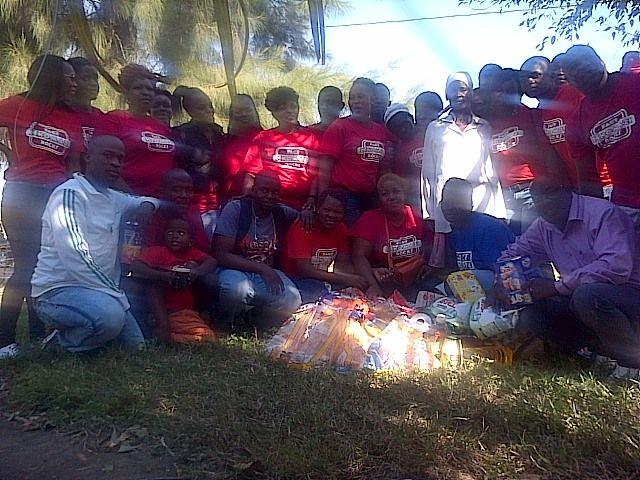 Fact Nkomazi Rocks donated groceries to  the Sibiya family in Driekoppies. Picture: Musa Sweetness Zitha, Langeloop